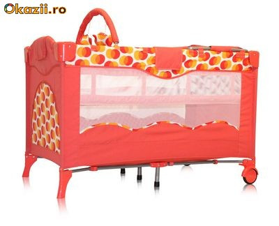 Отзывы Кроватка-манеж Bertoni Travel Kid 2 Layers Melon Spots.